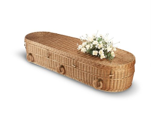 wicker eco friendly casket