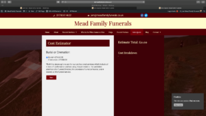 Mead Family Funerals Cost calculator